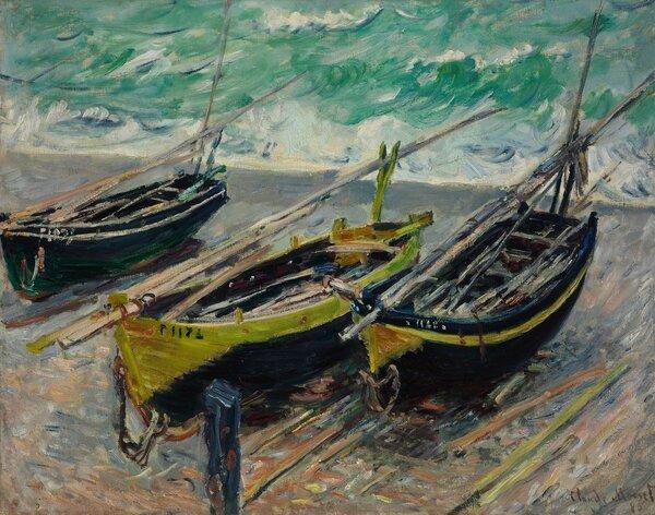 Trois bateaux de pêche