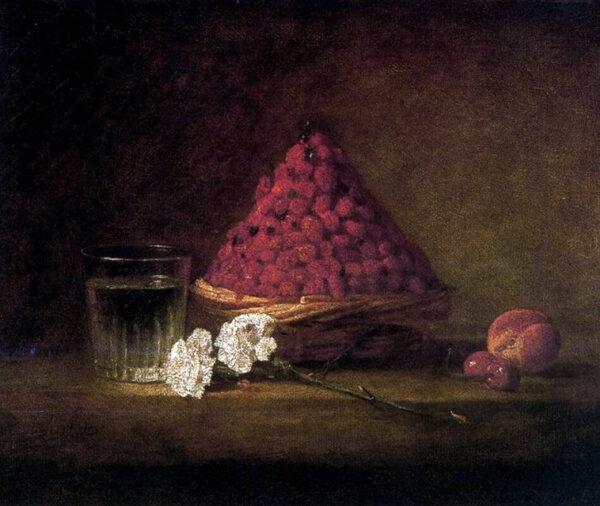 Le panier de fraises des bois