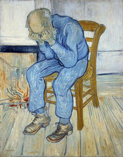 Vieil homme dans la douleur