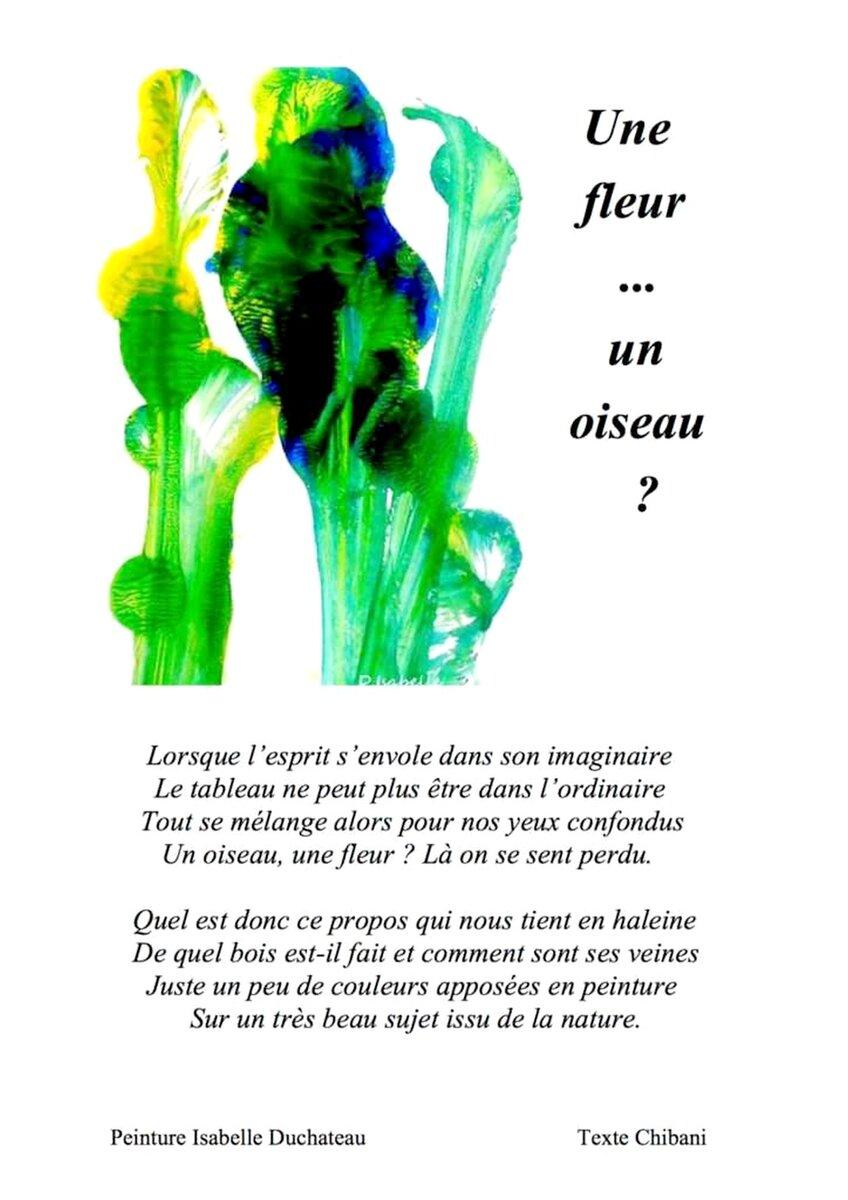 Aquarelle par Isabelle - Texte de Chibani